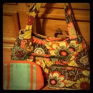 Vera Bradley purse and accessories